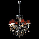 Iron Chrome 6-light Crystal Ceiling Light with Lamp Cover (1048-NT9612-6)