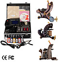 Top Quality Damascus Hand-made 3 Tattoo Machines Kit with Superior LED Power Supply (LY167)
