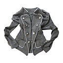 Military Style Nails Decorated Long Sleeves Stand Collar Outerwear / Women's Outerwears (FF-B-BI0857118)