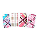Silicone Protective Case for iPhone 4 - Grid (4 Colors Per Pack)