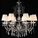 Iron Chrome 8-light K9 Crystal Chandelier With Lamp Shade (0835-AD88105)