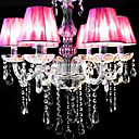 Iron Chrome 6-light K9 Crystal Chandelier With Lamp Shade (0835-AD88119)