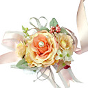 Elegant Orange Silk Rose With Chiffon Decoration Wedding/ Bridal Wrist Flower