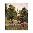 Stretched Handmade Church at Kew Painting   by Camille Pissarro(0192-YCF103900)