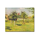 Stretched Handmade Woman in the orchard Painting  by Camille Pissarro (0192-YCF103949)