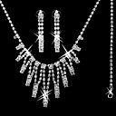 Gorgeous CZ Cubic Zirconia Wedding Bridal Jewelry Set(Including Necklace,Earing,Bracelet)(0986-S009)