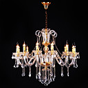 Iron Chrome 10-light K9 Crystal Chandelier (0835-AD88101)