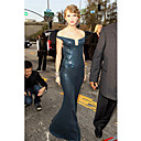 Taylor Swift Trumpet/ Mermaid Off-the-shoulder Floor-length Sequined Evening Dress (FSM04368)