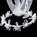 satin splendido con headwreath matrimonio flower girl strass