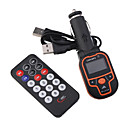 lcd auto mp3/mp4-speler fm transmitter met ir afstandsbediening-2G oranje