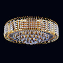 13-light Gold Color Bright Chrome K9 Crystal Ceiling Light (1069-J9855-x13)