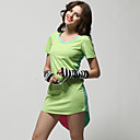Colorful Short Sleeves Round Neckline Tunics/ Women's Tunics (FF-4203BF099-0497)