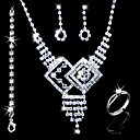 Gorgeous Alloy With Rhinestones Wedding Bridal Jewelry Set(0986-L20111211473)