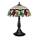 16 Inch Tiffany-style Grape Fruit Floral Edge Table Lamp (0835-G161071)