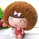 Curly Haired Girl Money Bank Baby Shower Favor