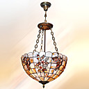 16 Inch Tiffany-style Colorful butterfly Shape Natural shell Material Pendant Light (0835-D8013)