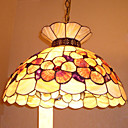 14 Inch Tiffany-style Crown Shape Natural shell Material Pendant Light (0835-D8019)
