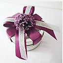  Clear Top Favor Tin With Double Ribbon Bow (Set of 6)