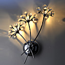 K9 Crystal Wall Light with 3 Lights - Bouquet Design (G4 Bulb Base)