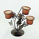 Buterfly and Flower Design Candle Holder