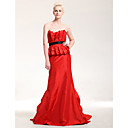 Taffeta Trumpet/ Mermaid Strapless Court Train Evening Dress inspired by Sofia Vergara at Golden Glove Award