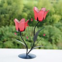 Red Tulip Metal Candle Holder