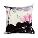 Cushion Cover-Ink Painting Lotus II