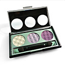 3 Colors Eye Shadow Travel Set with Free Brush