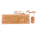 T3Q108NN 3 District 108 key Bamboo Keyboard and Mouse