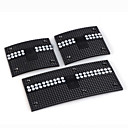 3 PCS Luxury Glitter Car Brake/Clutch Pedal/Accelerator Pedal-Black