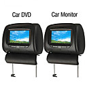 7 Inch Digital Screen Car Headrest DVD Player and Monitor Support Game System DVB-T USB/SD Connecting (1 Pair)