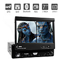 7 pulgadas 1 din coche reproductor de DVD de apoyo ipod gps bluetooth tv rds desmontable del panel