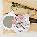 Personalized Mirror Key Ring - Bloom (set of 12)