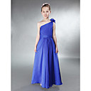 A-line One Shoulder Floor-length Chiffon Junior Bridesmaid Dress