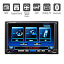 7 Inch Digital Touchscreen 2Din Car DVD Player with GPS Bluetooth TV