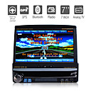 7 pulgadas de pantalla tctil digital de 1DIN coches reproductor de DVD con GPS bluetooth tv
