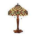 Tiffany style Fish Scale Stained Glass Table Lamp with 2 Lights
