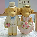 Bride and Groom Bear Fridge Magnet Favors (set of 2)