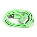 Colorful Sync and Charge Cable for iPad and iPhone (Green, 100cm Length)