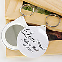 Personalized Mirror Key Ring - LOVE (set of 12)