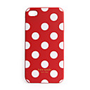 Premium Unique Hard Protective Back Case for iPhone 4 - Red,White Dot