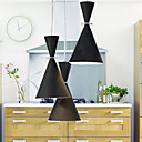 60W Modern Pendant Light with 3 Lights in black