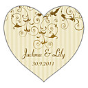 Personalized Heart-shaped Favor Stickers—Old World Elegance(set of 90)