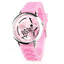 Silikon-Band Quarz-Armbanduhr fr Frauen (Pink)