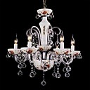 SUMMERVILLE - Lustre Cristal com 6 Lmpadas