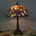 Table Light in Tiffany Style - Floral Patterned Lampshade
