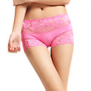 6 Pieces Bamboo Carbon Fiber Medium Waist With Lace Wedding/ Party/ Honeymoon Panties