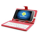 Super Protective Leather Keyboard case for 7 Inch Tablet PC/PAD (RED)
