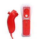2-in-1 MotionPlus tlcommande et le Nunchuk + cas pour Wii / Wii u (rouge)