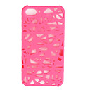Unique Mesh Protective Case for iPhone 4(Pink)